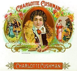 Charlotte Cushman cigar box label