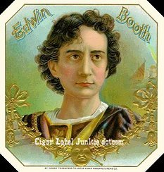 Edwin Booth cigar box label