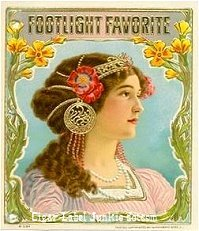 Footlight Fav cigar box label