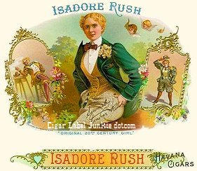 Isadora Rush cigar box label