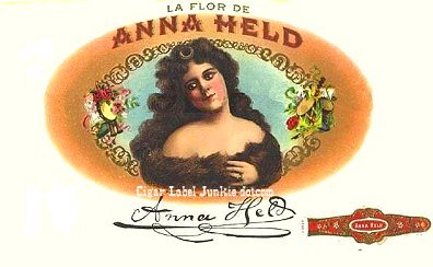LFD Anna Held cigar box label