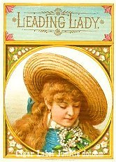 Lead Lady cigar box label