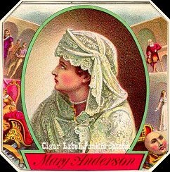 Mary Anderson cigar box label