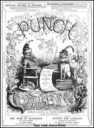 Punch Magazine- cigar box label