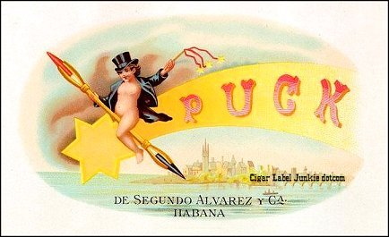 Puck early- cigar box label