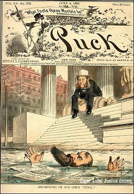 Puck Cover 1884- cigar box label