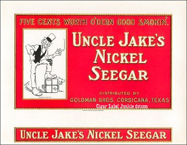 Uncle Jake- cigar box label
