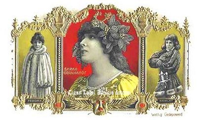 Sarah Bernhardt cigar box label