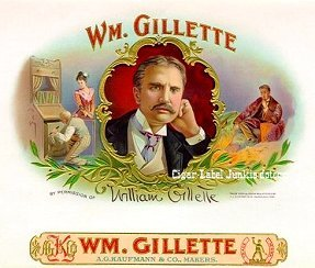 Wm. Gillette cigar box label